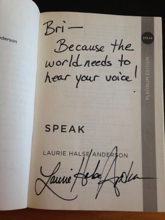 I love the way Anderson signs her books!