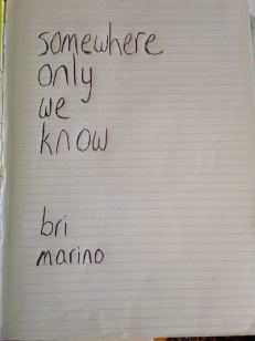 My original handwritten cover